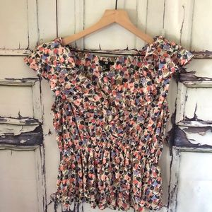 H&M floral ruffled top